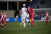 Santa Barbara, CA - Friday, December 7, 2018:  Maryland men's soccer defeated Indiana 2-0 in a semi-final match in the 2018 College Cup.  Eric Matzelevich, Timmy Mehl.