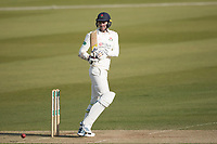 James Anderson of Lancashire CCC fends a short delivery off for a single during Middlesex CCC vs Lancashire CCC, Specsavers County Championship Division 2 Cricket at Lord's Cricket Ground on 13th April 2019