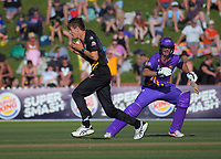 Ben Sears in action during the Burger King Super Smash T20 cricket match between the Wellington Firebirds and Canterbury Kings at Basin Reserve in Wellington, New Zealand on Sunday, 6 January 2019. Photo: Dave Lintott / lintottphoto.co.nz