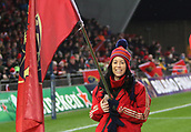 9th December 2017, Thomond Park, Limerick, Ireland; European Rugby Champions Cup, Munster versus Leicester Tigers;  A Munster flag bearer pictured ahead of the game