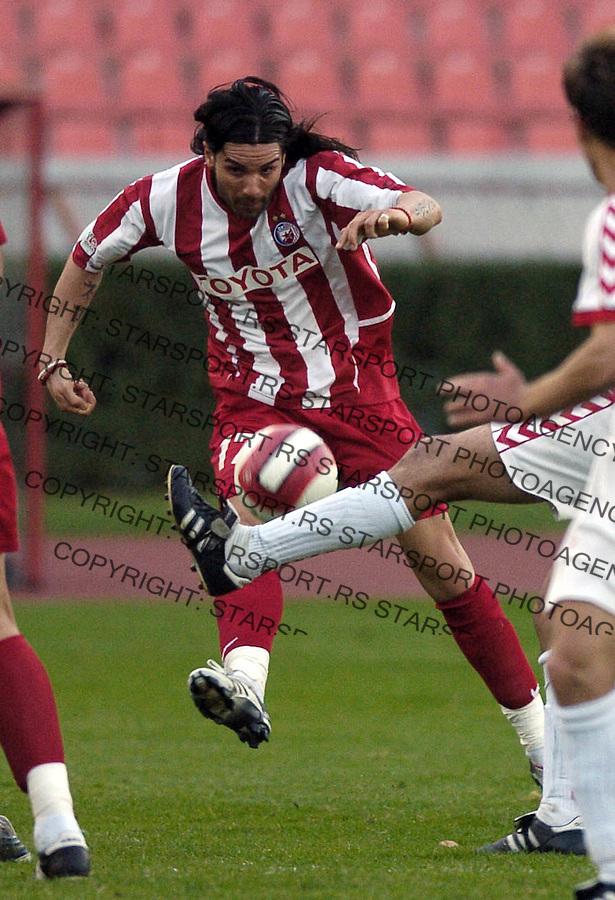 SPORT FUDBAL SOCCER FOOTBALL CRVENA ZVEZDA RED STAR SEVOJNO KUP CUP 25.10.2006  Georgijev Blagoj photo: Pedja Milosavljevic<br />