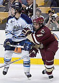 John Hopson, Anthony Aiello - The Boston College Eagles defeated the University of Maine Black Bears 4-1 in the Hockey East Semi-Final at the TD Banknorth Garden on Friday, March 17, 2006.