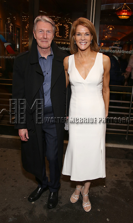 """Byron Jennings and Carolyn McCormick Attends the Broadway Opening Night of """"All My Sons"""" at The American Airlines Theatre on April 22, 2019  in New York City."""
