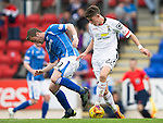 St Johnstone v Inverness Caley Thistle...08.08.15...SPFL..McDiarmid Park, Perth.<br /> Ryan Christie and Tam Scobbie<br /> Picture by Graeme Hart.<br /> Copyright Perthshire Picture Agency<br /> Tel: 01738 623350  Mobile: 07990 594431