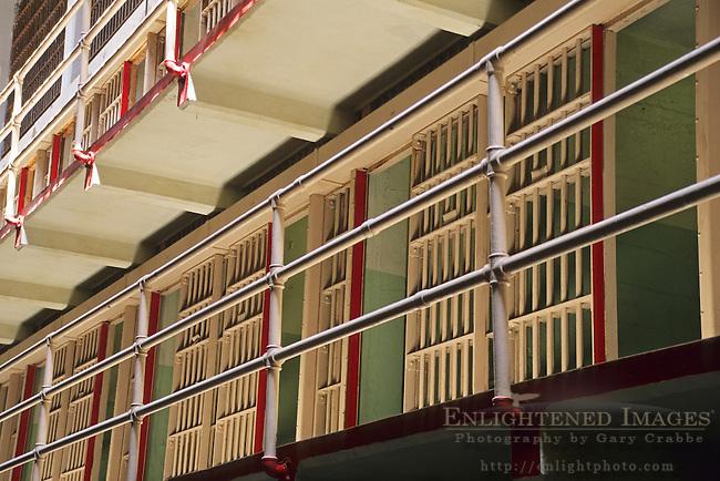 Prisoner jail cell blocks on Alcatraz, San Francisco, California
