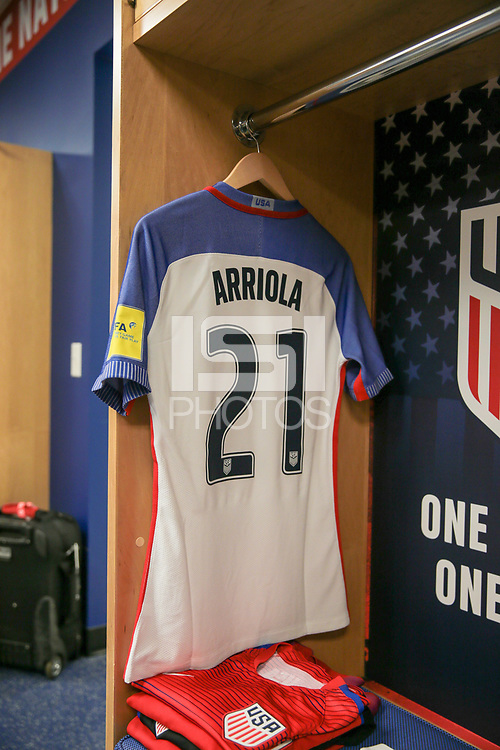 Harrison, N.J. - Friday September 01, 2017: Paul Arriola during a 2017 FIFA World Cup Qualifying (WCQ) round match between the men's national teams of the United States (USA) and Costa Rica (CRC) at Red Bull Arena.