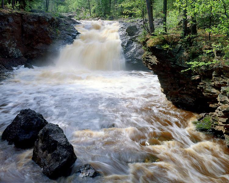 Amnicon Falls, Amnnicon Falls State Park, Wisconsin, May 1989