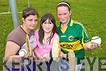 HURLING: Enjoying the hurling at the first ever Ogras summer camp at Castleisland Community College last Thursday were, l-r: Rachel MacDomhnaill, Alison Ni? Ghealai?, Lisa De Bru?n.