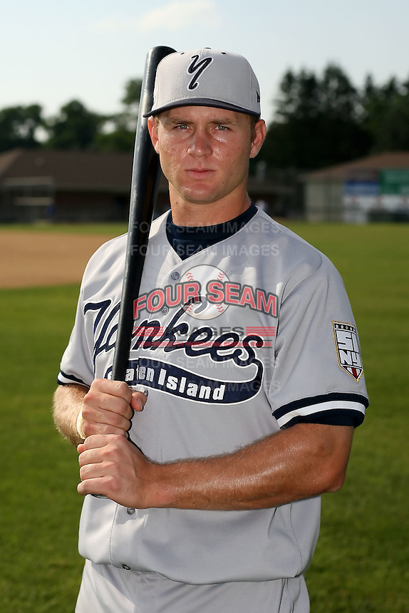 July 5th 2008:  Second baseman David Adams of the Staten Island Yankees, Class-A affiliate of the NY Yankees, during a game at Falcon Park in Auburn, NY.  Photo by:  Mike Janes/Four Seam Images