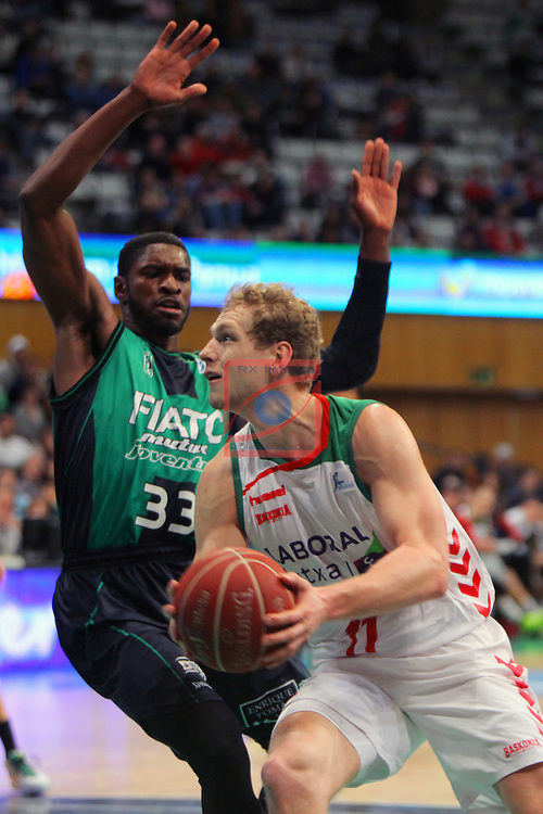 League ACB-Endesa 2015-2016. Game: 16.<br /> FIATC Joventut vs Laboral Kutxa Baskonia: 68-89.<br /> Paul vs Blazic.