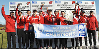 The Badger men's cross country team wins 1st place in the Big Ten cross country championships on Sunday, 10/31/10, at Zimmer Cross Country Course in Verona, Wisconsin