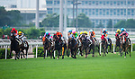 HONG KONG - MAY 04:  Riders compete during the Tsim Sha Tsui at Sha Tin racecourse on May 4, 2014 in Hong Kong, Hong Kong.  Photo by Aitor Alcalde / Power Sport Images