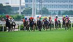 HONG KONG - MAY 04:  Riders compete during the Tsim Sha Tsui at Sha Tin racecourse on May 4, 2014 in Hong Kong, Hong Kong.  Photo by Aitor Alcalde / Power Sport Images
