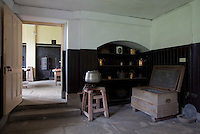 A view into the original kitchen from the scullery