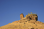 Israel, Negev, the camel shaped rock overlooking Ramon Crater