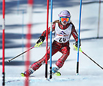 LEAD, SD - JANUARY 31, 2016 -- Brooklyn Ludemann works through the slalom in the U12 category during the 2016 USSA Northern Division Ski Races at Terry Peak Ski Area near Lead, S.D. Sunday. (Photo by Richard Carlson/dakotapress.org)