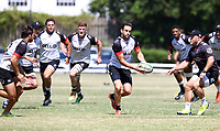 Keegan Daniel during the cell c sharks pre season training session at  Growthpoint Kings Park ,22,01,2018 Photo by Steve Haag)
