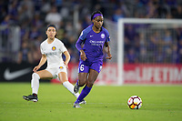 Orlando, FL - Saturday March 24, 2018: Orlando Pride forward Chioma Ubagagu (6) during a regular season National Women's Soccer League (NWSL) match between the Orlando Pride and the Utah Royals FC at Orlando City Stadium. The game ended in a 1-1 draw.