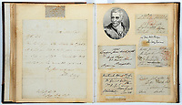 Victorian autograph hunter's remarkable collection of signatures of famous historical figures