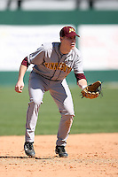February 21, 2009:  Third baseman Kyle Geason (4) of the University of Minnesota during the Big East-Big Ten Challenge at Jack Russell Stadium in Clearwater, FL.  Photo by:  Mike Janes/Four Seam Images