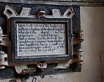 William Clopton memorial monument 1615, Holy Trinity Church, Long Melford, Suffolk, England, UK