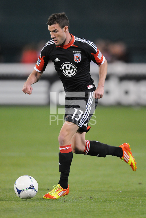 D.C. United midfielder Chris Pontius (13) D.C. United tied the Seattle Sounders, 0-0 at RFK Stadium, Saturday April 7, 2012.