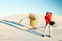 White Sands National Monument in New Mexico is home to the worlds largest gypsum dune field covering 275 square miles of desert.