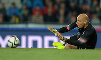 PRAGUE, Czech Republic - September 3, 2014: USA's Brad Guzan during the international friendly match between the Czech Republic and the USA at Generali Arena.