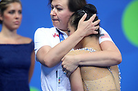 August 30, 2017 - Pesaro, Italy - LAURA ZENG with coach Natasha Klimouk of USA at World Championships Pesaro 2017.