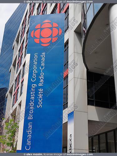 CBC building sign. Toronto, Ontario, Canada.