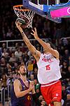 League ACB-ENDESA 2017/2018 - Game: 20.<br /> FC Barcelona Lassa vs Retabet Bilbao Basket: 90-58.<br /> Ante Tomic vs Alex Mumbru.
