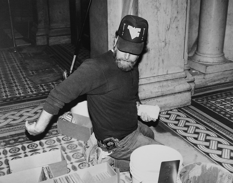 Worker at the Washington Union Station. (Photo by CQ Roll Call via Getty Images)