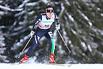 Italy's Gaia Vuerich competes during the FIS Ski World Cup 1.3 Km Sprint Free Qualification, on February 2, 2014 in Dobbiaco, Toblach. <br /> <br /> &copy; Pierre Teyssot