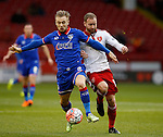 Joseph Mills of Oldham Athletic] tussles with Matt Done of Sheffield Utd - FA Cup Second round - Sheffield Utd vs Oldham Athletic - Bramall Lane Stadium - Sheffield - England - 5th December 2015 - Picture Simon Bellis/Sportimage