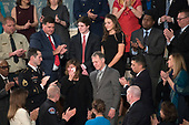 Otto Warmbier's family is recognized as United States President Donald J. Trump delivers his first State of the Union address to a joint session of the US Congress in the US House chamber in the US Capitol in Washington, DC on Tuesday, January 30, 2018.<br /> Credit: Ron Sachs / CNP<br /> (RESTRICTION: NO New York or New Jersey Newspapers or newspapers within a 75 mile radius of New York City)