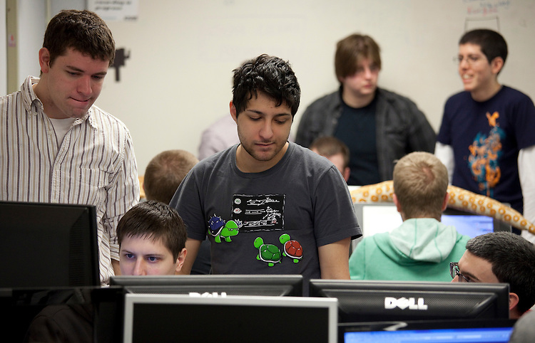 Octodad was developed by a team of 19 students in DePaul's Gaming Development program in less than six months to compete in the Independent Games Festival Student Showcase at the 2011 Game Developers Conference in San Francisco. (DePaul University/Paul Strabbing)