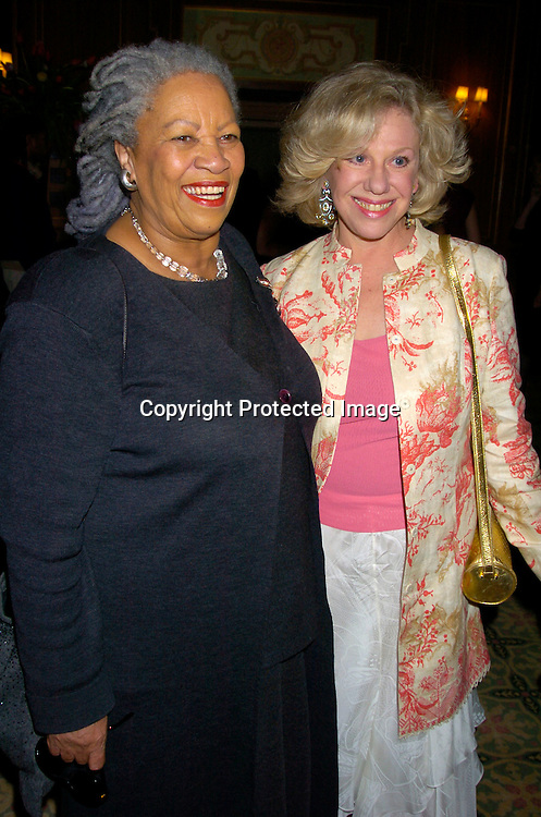 Toni Morrison and Erica Jong ..at the 2004 Pen Literary Dinner and the Presentation of Free Expression Awards  on April 20, 2004 at The ..Pierre Hotel in New York City. ..Photo by Robin Platzer, Twin Images