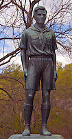 Boy Scout statue at a camp in Stony Brook NY