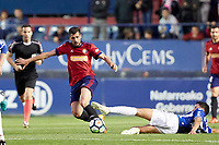 Fran M&eacute;rida (medium; CA Osasuna) during the Spanish la League soccer match between CA Osasuna and Lorca FC at Sadar stadium, in Pamplona, Spain, on Saturday, <br /> May 27, 2018.