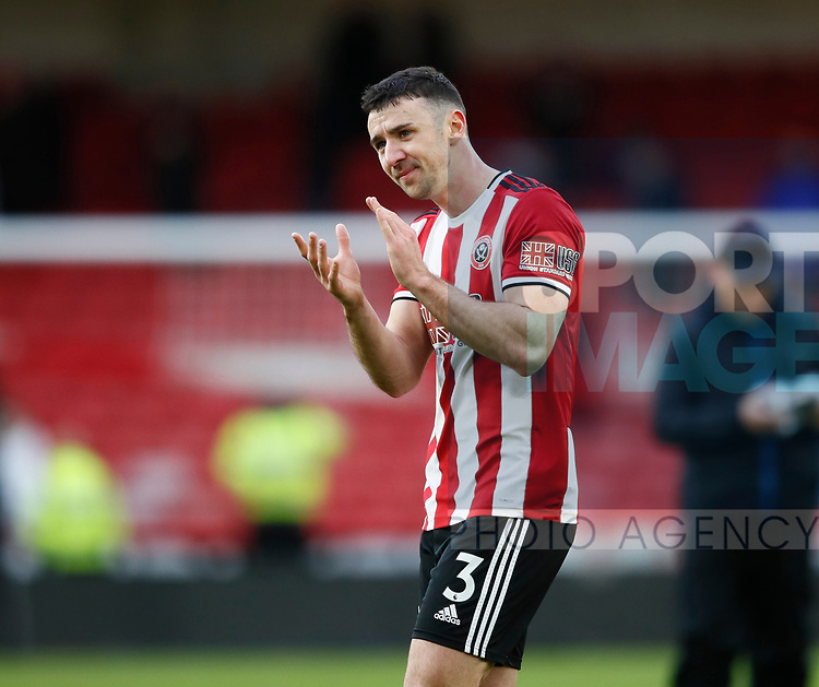 Enda Stevens of Sheffield Utd  during the Premier League match at Bramall Lane, Sheffield. Picture date: 9th February 2020. Picture credit should read: Simon Bellis/Sportimage