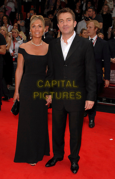 DONNA & BRADLEY WALSH.Arrivals at the Pioneer British Academy Television Awards 2006 at the Grosvenor House Hotel, London, UK..May 7th, 2006 .Ref: CAN.BAFTA TV.full length black suit dress married husband wife.www.capitalpictures.com.sales@capitalpictures.com.©Capital Pictures