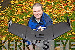 Aidan O'Connor of ASM Ireland who provides an aerial photography service using a drone.