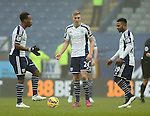 Saido Berahino, Darren Fletcher and Stephane Sessegnon of West Bromwich Albion talk tactics after going 2-0 down - Barclays Premier League - Burnley vs West Bromwich Albion - Turf Moor Stadium  - Burnley - England - 8th February 2015 - Picture Simon Bellis/Sportimage
