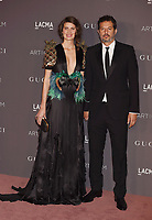 LOS ANGELES, CA - NOVEMBER 04: Guy Oseary (R) and Michelle Alves attend the 2017 LACMA Art + Film Gala Honoring Mark Bradford and George Lucas presented by Gucci at LACMA on November 4, 2017 in Los Angeles, California.<br /> CAP/ROT/TM<br /> &copy;TM/ROT/Capital Pictures