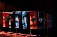 Philadelphia, PA - Thursday January 18, 2018: Team banners during the 2018 NWSL College Draft at the Pennsylvania Convention Center.
