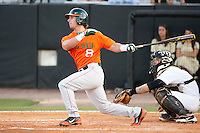 March 14, 2012: \  during non conference NCAA baseball game action between the Miami Hurricanes and the Central Florida Knights. Miami defeated Central Florida 3-2 at Jay Bergman Field in Orlando, FL