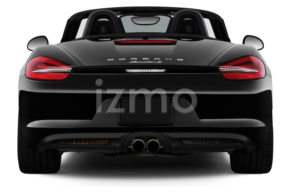 Straight rear view of a 2013 Porsche Boxster S