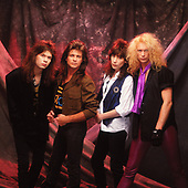 MR. BIG, PAT TORPEY, BILLY SHEEHAM, ERIC MARTIN, PAUL GILBERT, STUDIO SESSION, LOS HOLLYWOOD, CA, 1989 WILLIAM HAMES