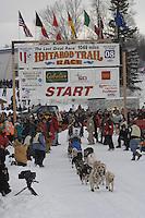 Ray Redington, Jr Willow restart Iditarod 2008.