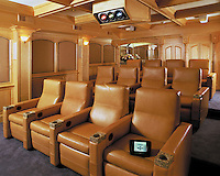 Leather Reclining Theater Chairs